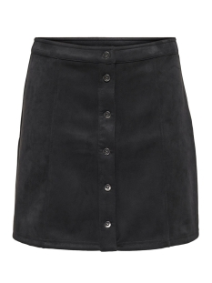 Jacqueline de Yong Rok JDYSTORMY FAKE SUEDE BUTTON SKIRT J 15197731 Black/GUN METAL
