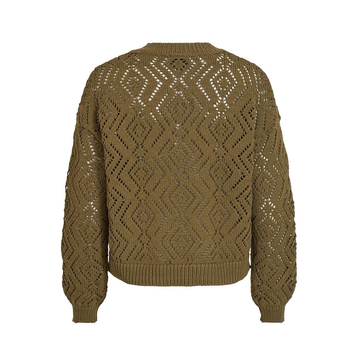 objsophia l/s knit pullover 107 23031542 object trui burnt olive
