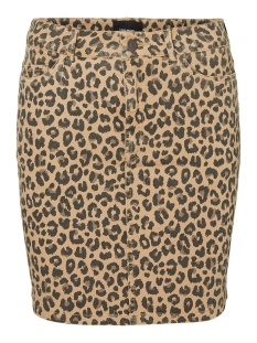 Vero Moda Rok VMLEONORA MR SHORT SKIRT 10226218 Tobacco Brown/LEOPARD