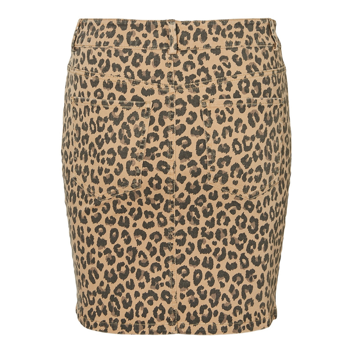 vmleonora mr short skirt 10226218 vero moda rok tobacco brown/leopard