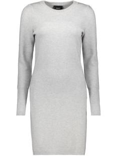 Object Jurk OBJELIANNA CARIN L/S KNIT DRESS 105 23029950 Light Grey Melange