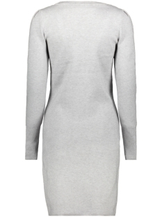 objelianna carin l/s knit dress 105 23029950 object jurk light grey melange