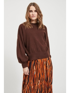 Object Trui OBJLALE L/S KNIT PULOVER A LMT 11 23033538 Chicory Coffee