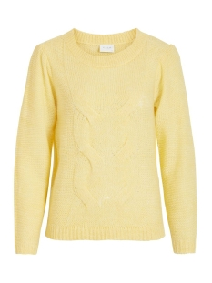 vipolana knit l/s top/su 14055420 vila trui mellow yellow