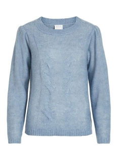 vipolana knit l/s top/su 14055420 vila trui ashley blue