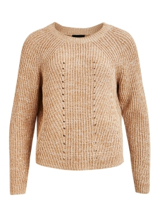 objmaya l/s knit pullover seasonal 23031749 object trui gardenia/incense me