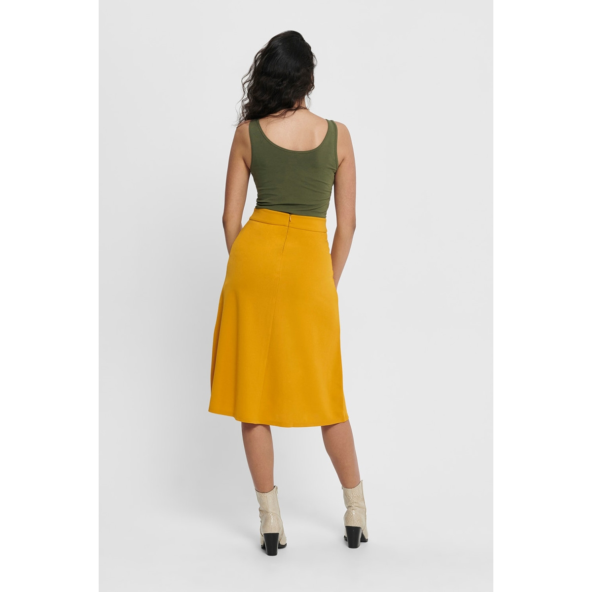 jdybellis button skirt jrs 15179719 jacqueline de yong rok golden yellow