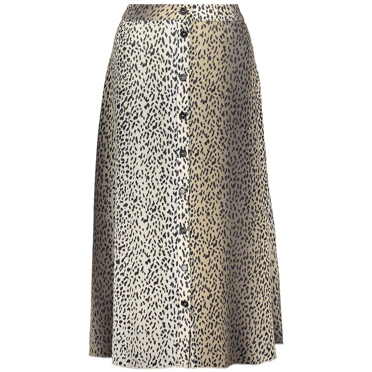 skirt aop leopard 060020 geisha rok sand/black