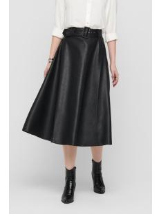 onlbella skirt w. belt pu 15214080 only rok black