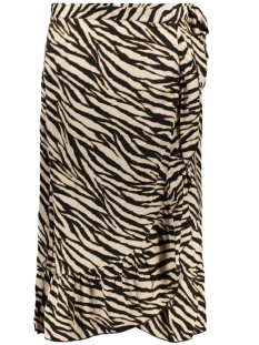 skirt wrap with ruffle 0611820 geisha rok black/sand combi