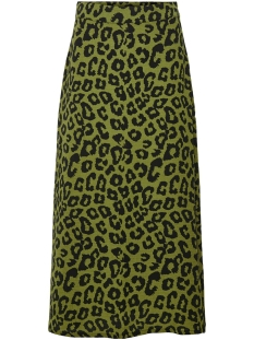 Jacqueline de Yong Rok JDYSEDA MIDI SKIRT WVN 15195697 Martini Olive/BLACK LEO