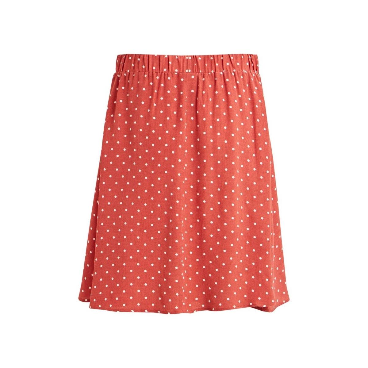 viprimera skirt-fav lux 14055568 vila rok dusty cedar/snow white