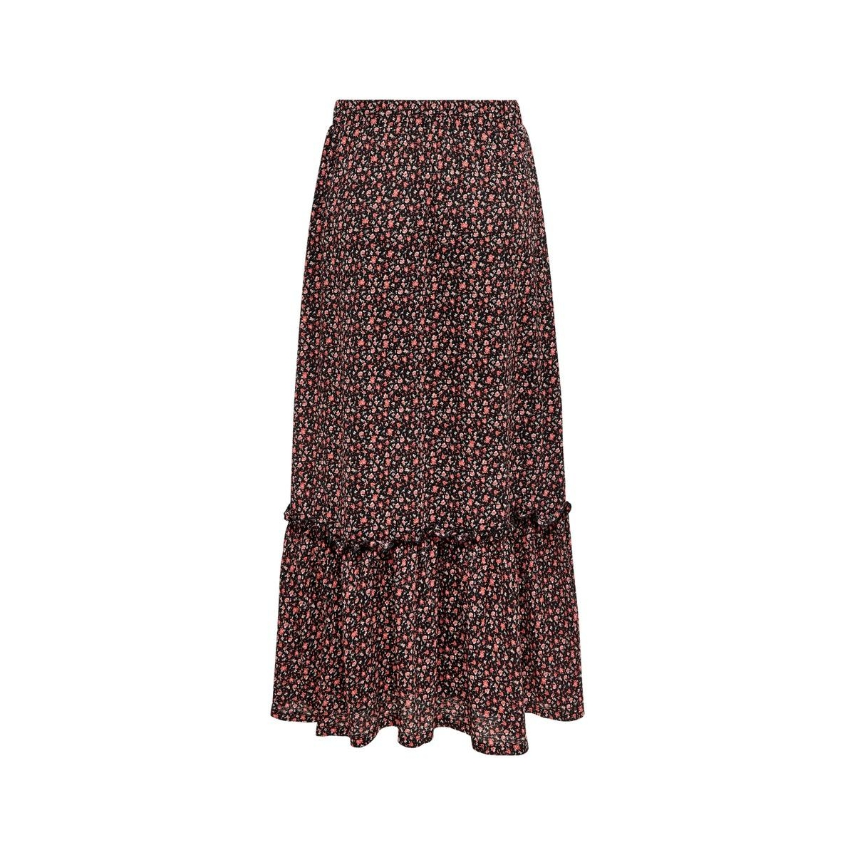 onlpella skirt jrs 15202185 only rok black/route dits
