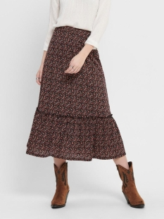 Only Rok ONLPELLA SKIRT JRS 15202185 Black/ROUTE DITS
