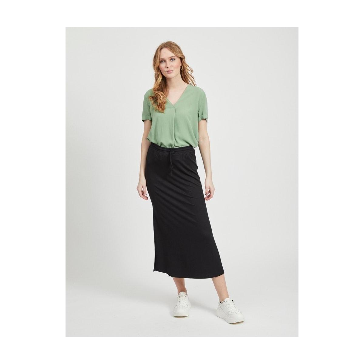 videll maxi skirt-noos 14054664 vila rok black