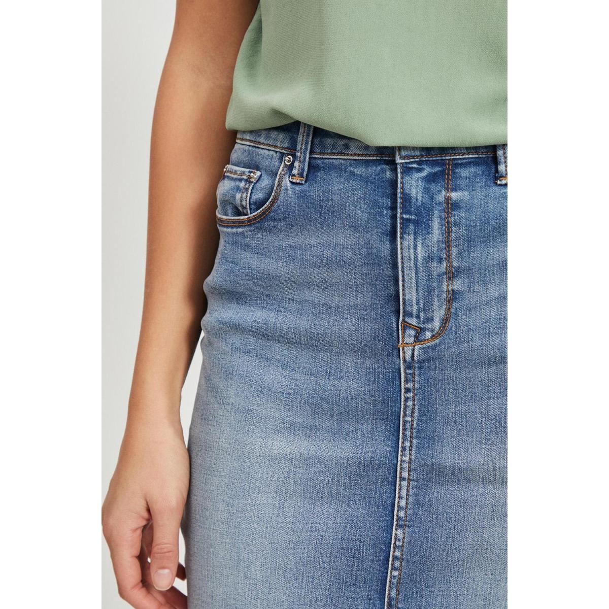 vicommit felicia short skirt lb-noo 14055251 vila rok light blue denim