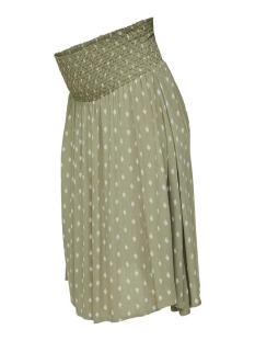 Mama-Licious Positie rok MLCEMILLE WOVEN MIDI SKIRT A. 20010920 Oil Green/Snow White