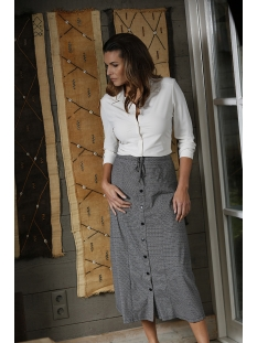 pearl printed travel skirt 201 zoso rok black/kit