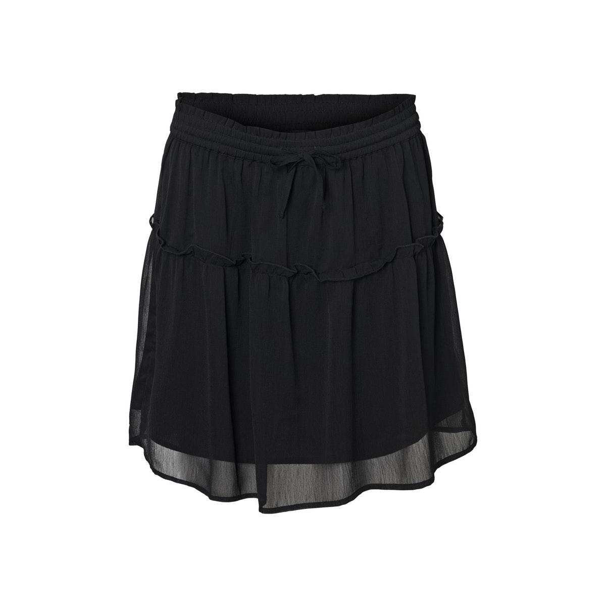 nmjust nw chiffon skirt 27012855 noisy may rok black
