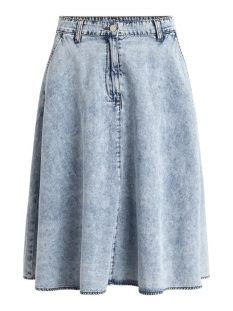 Vila Rok VICLASH HW SKIRT/DES 14057891 Light Blue Denim/STONEWASH