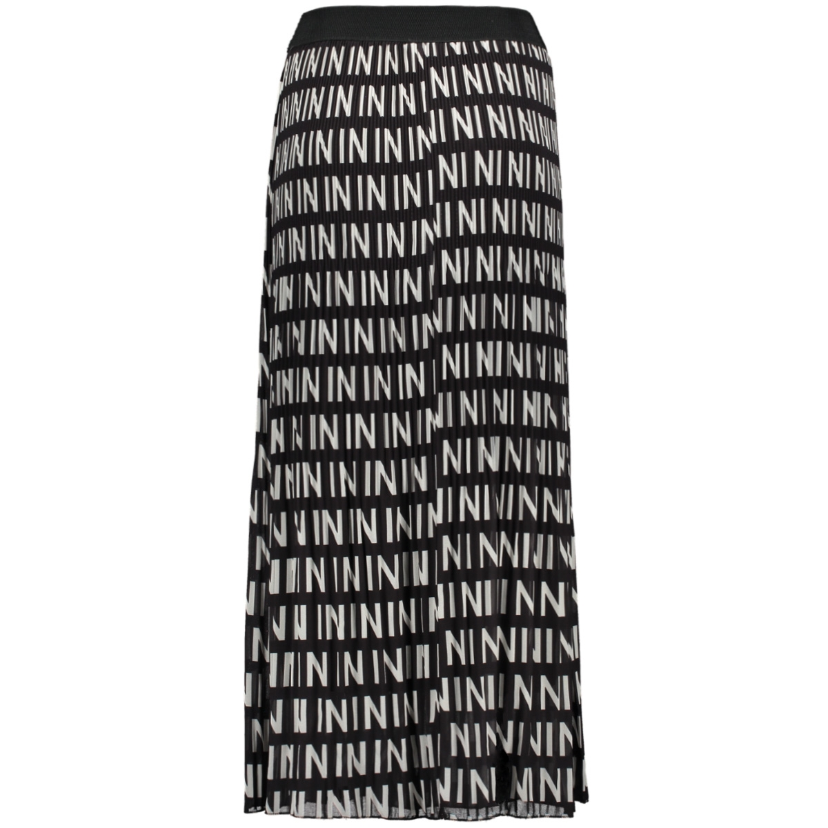 plisse rok 7681 iz naiz rok in print black/white