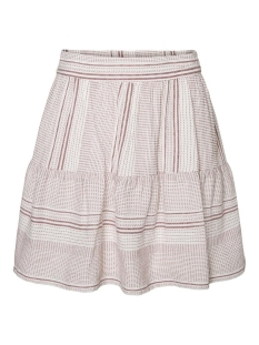 Vero Moda Rok VMHAZEL HW SKIRT WVN 10226536 SNOW WHITE/SABLE STRIPES