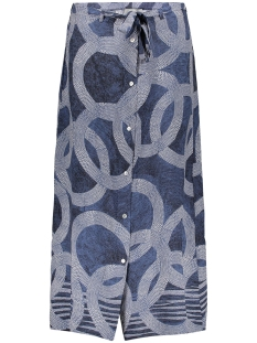 Geisha Rok SKIRT AOP CIRCLE 06061 40 Blue