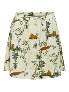 Only Rok ONLELVINA SKIRT WVN 15201214 Transparant Yel/LAZY TIGER