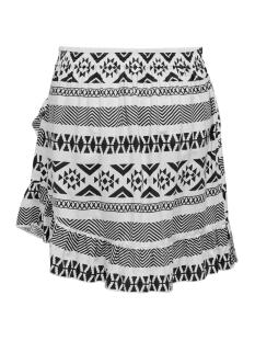 onllucca wrap skirt wvn 15204729 only rok white/graphic black
