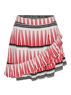 onllucca wrap skirt wvn 15204729 only rok white/graphic red