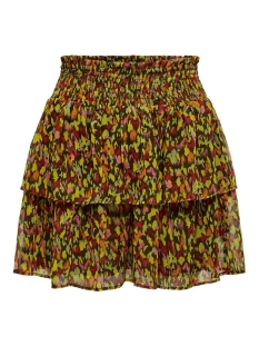 onlerin layered skirt wvn 15201255 only rok forest night/paradaze