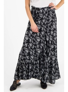 Circle of Trust Rok EMMY WRAP SKIRT S20 101 7480 BLACK BAMBOO