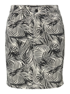 Vero Moda Rok VMLEONORA MR PALM SHORT DENIM SKIRT 10231244 Birch/PHANTOM/BLACK