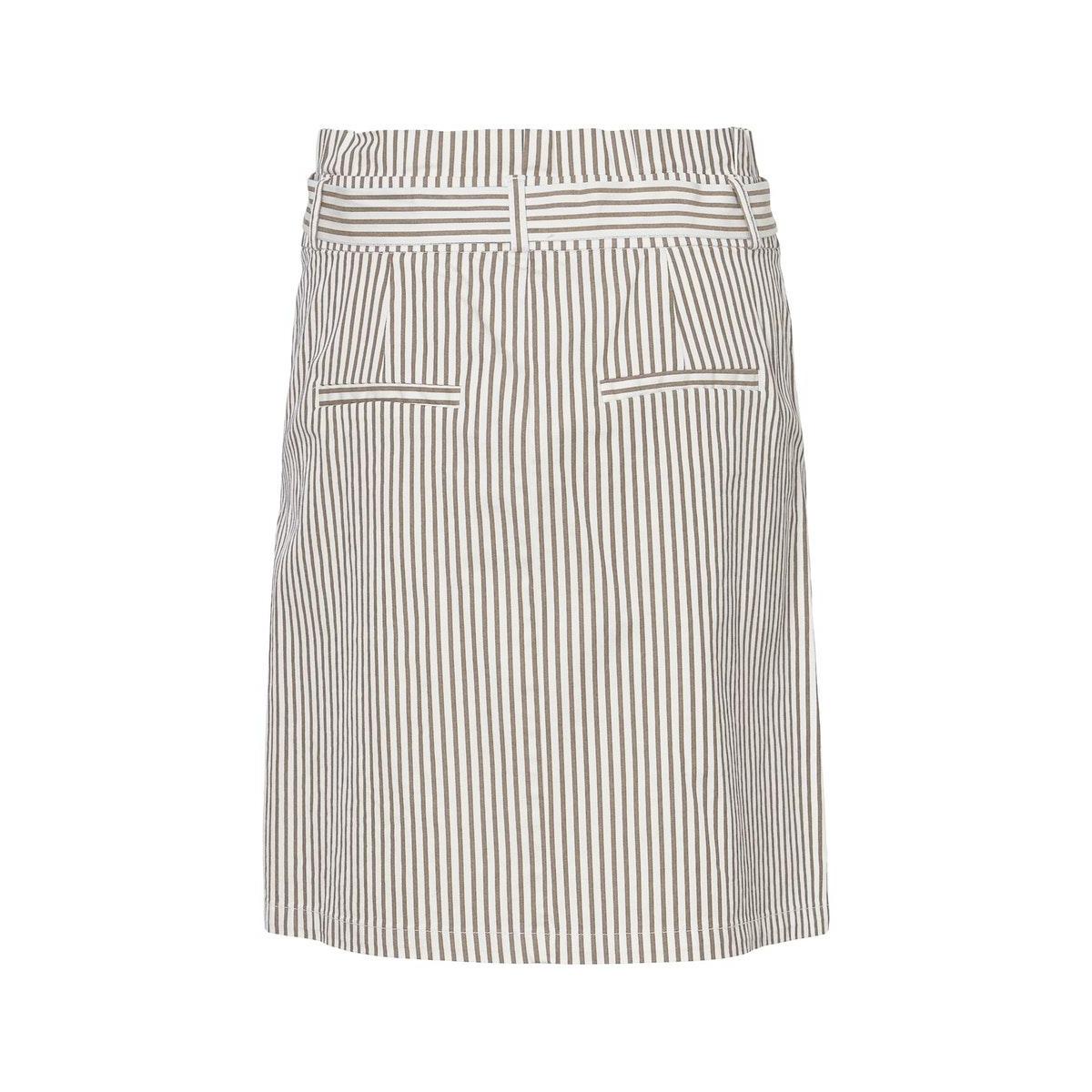 vmeva hr paperbag cot ps skirt colo 10228596 vero moda rok silver mink/white