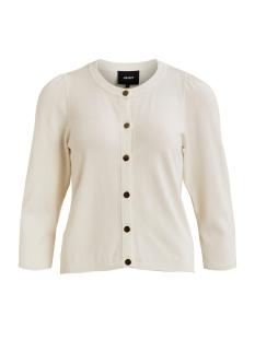 objannie 3/4 knit cardigan 107 23031899 object vest gardenia
