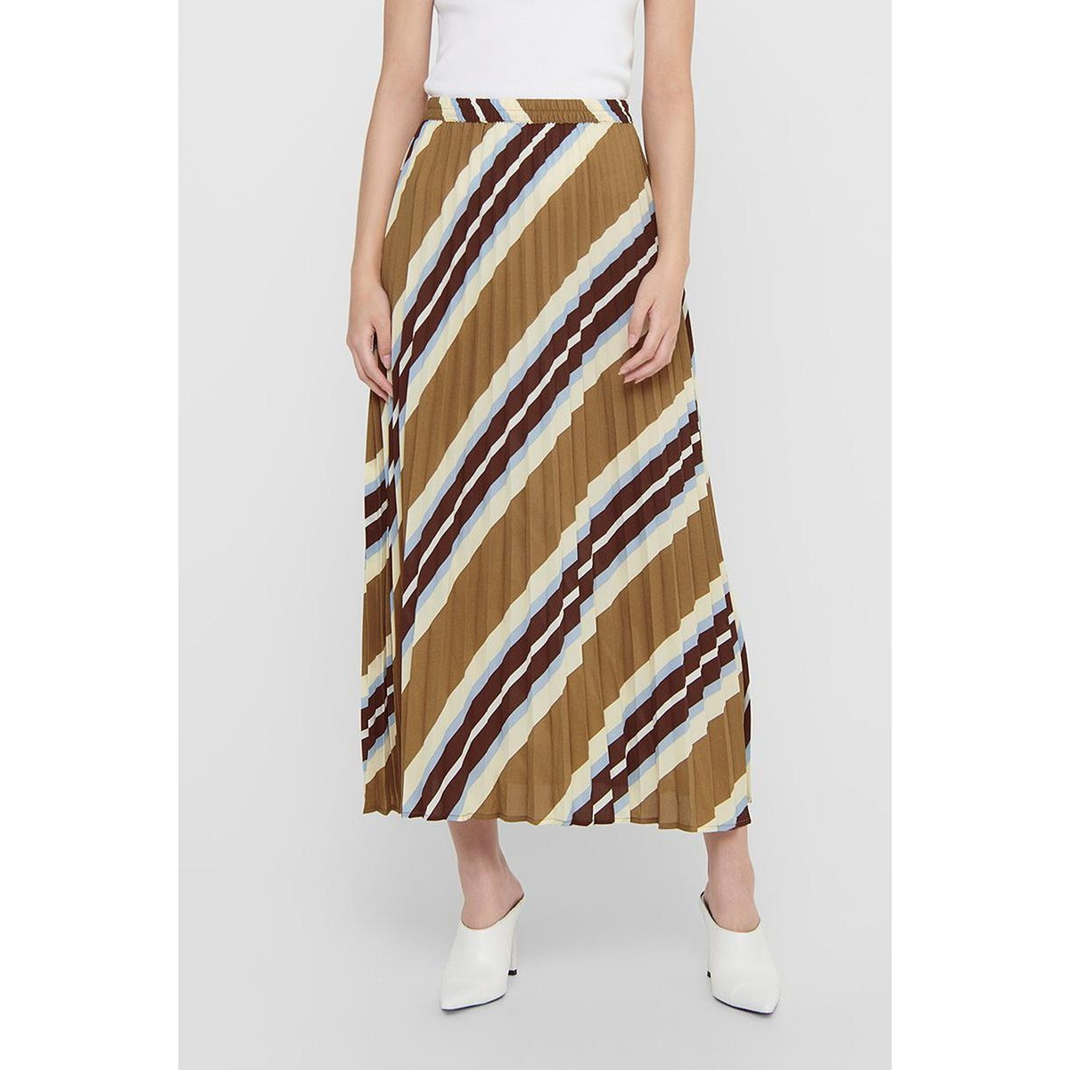 onlalma poly plisse skirt aop wvn 15200097 only rok toasted coconut/sahara str