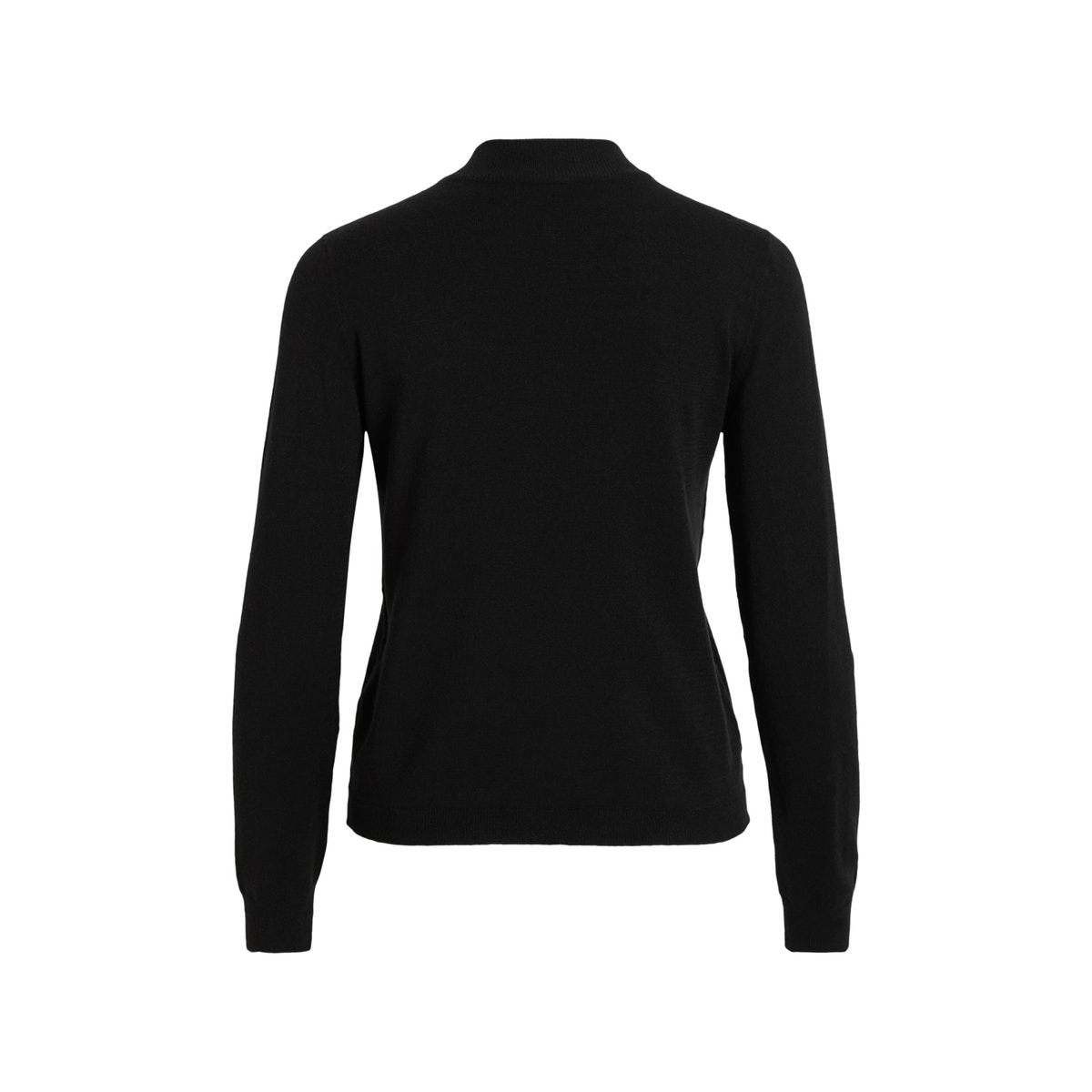 objthess l/s knit pullover noos 23030144 object trui black