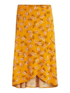 vimaskblini hw midi wrap skirt/l 14059038 vila rok mineral yellow/blini