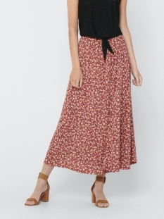 Only Rok ONLPELLA MAXI SKIRT JRS 15208376 Mineral Red/FLOWERS