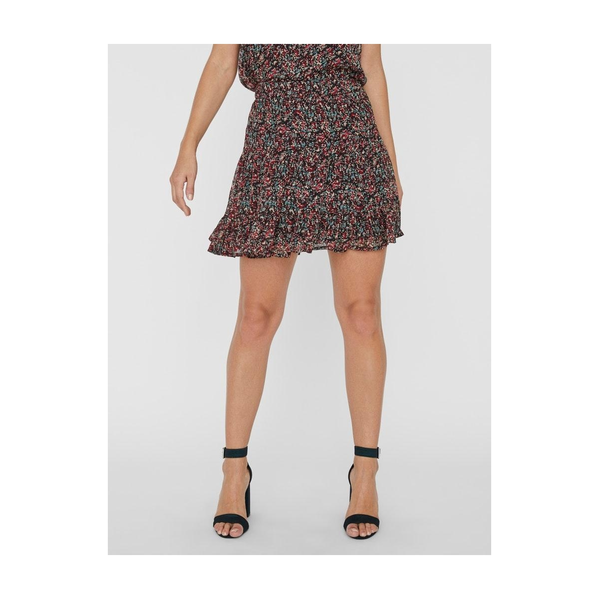 vmkay nw short skirt wvn rpt 10232209 vero moda rok black/janey
