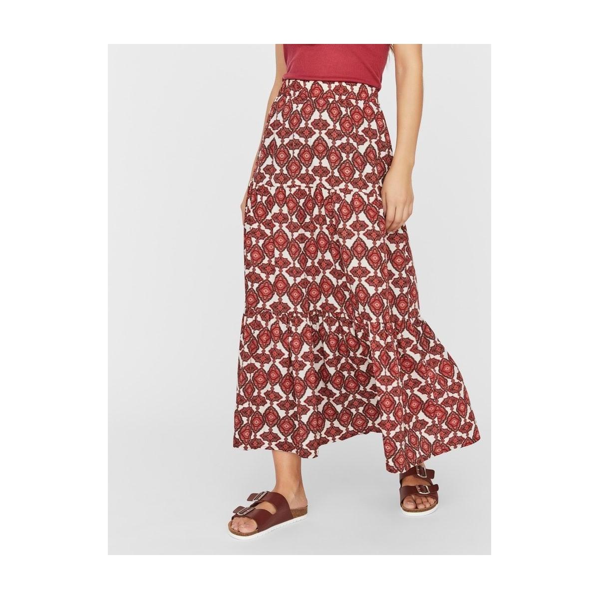 vmparia ankle skirt wvn ga 10234395 vero moda rok birch/dubarry