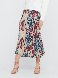Only Rok ONLALMA LIFE POLY PLISSE SKIRT AOP 15205521 Cloud Dancer/BOHO
