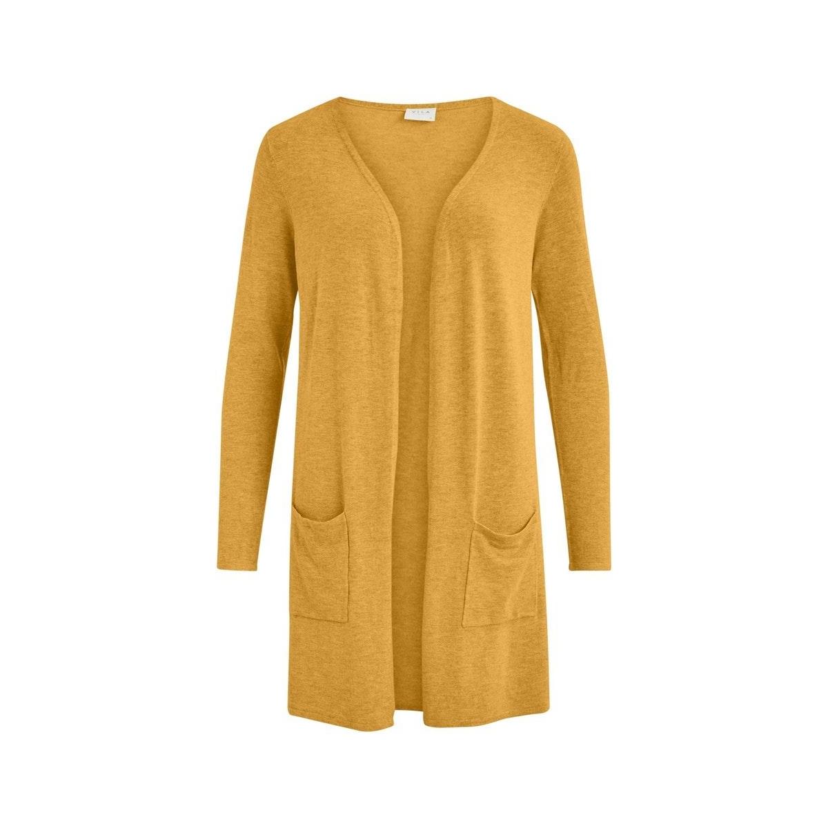 vibolonsia knit pocket l/s cardigan 14058240 vila vest mineral yellow