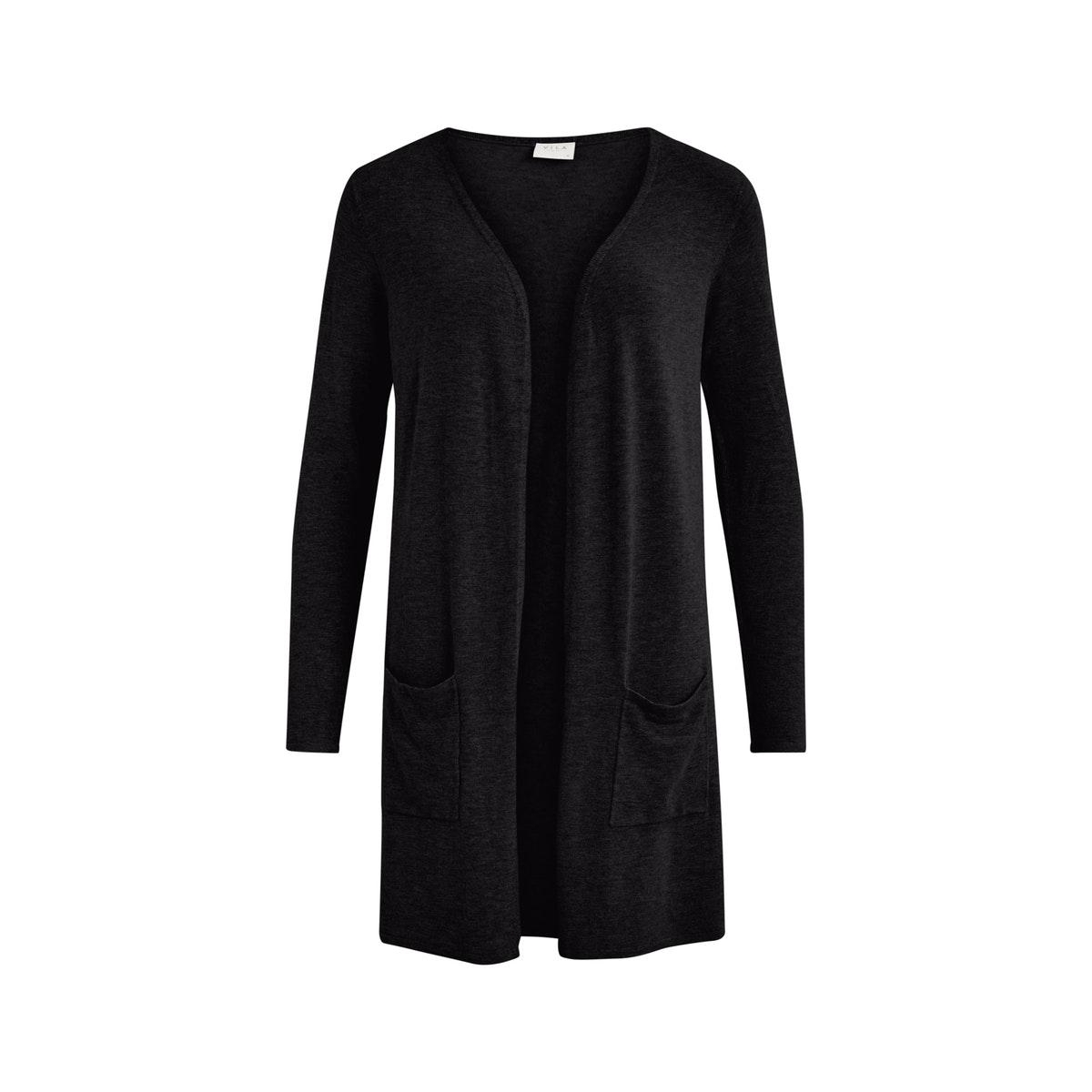 vibolonsia knit pocket l/s cardigan 14058240 vila vest black