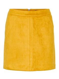 vmdonnadina faux suede short skirt 10210432 vero moda rok buckthorn brown