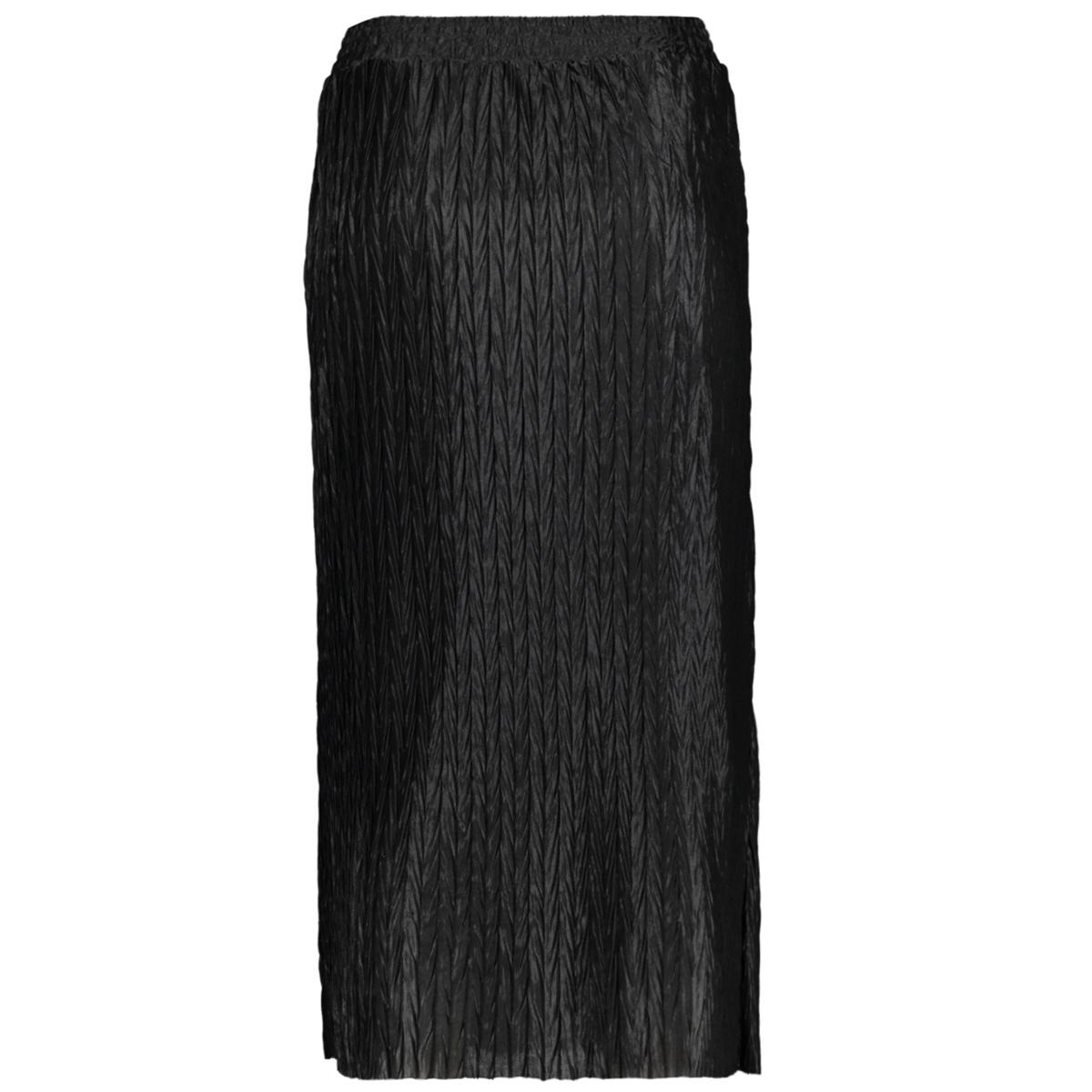 vipleasa hw midi skirt/des 14058860 vila rok black