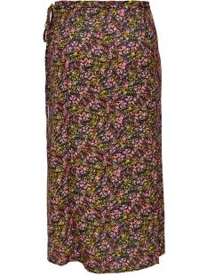 onlfay life above calf skirt wvn 15207101 only rok black/daze flower