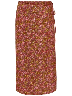 onlfay life above calf skirt wvn 15207101 only rok burnt henna/daze flower