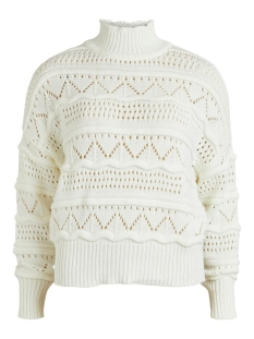 Object Trui OBJJANNY L/S KNIT PULLOVER 110 23033230 CLOUD DANCER