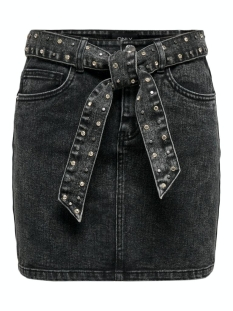 onlwild life hw stud belt  dnm skir 15211363 only rok grey denim